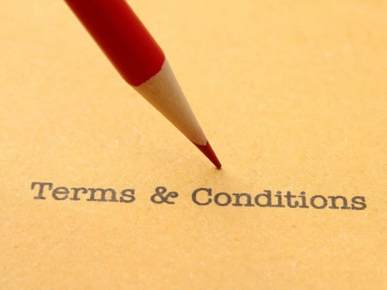Terms Conditions Contract